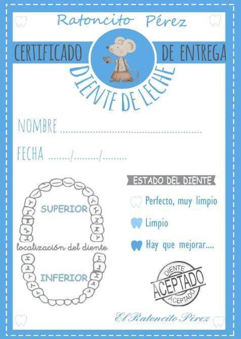 Certificados Y Cartas Del Ratoncito Perez Ratoncito Pérez Ratones Ratoncito De Los Dientes