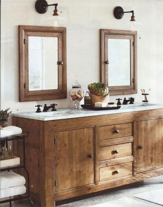 25 Western Bathroom Decorating Ideas With Rustic Style Bathroom Vanity Designs Rustic Bathroom Vanities Bathroom Vanity Decor