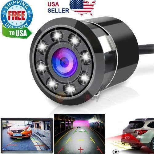 8 LED 170° HD Color CCD Light Night Vision Car Rear View Reverse Back up Camera