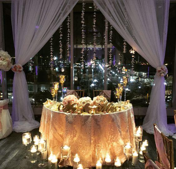 Wedding Reception Head Table Ideas: Sweetheart Table, Backdrop