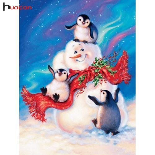 5D Diamond Painting Penguin Hatching Kit