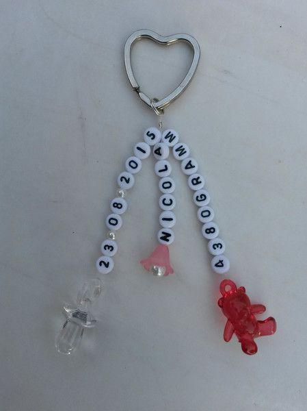 Schlüsselanhänger / Taschenbaumler Baby-Geburt von Der-ich war das-Shop auf DaWanda.com