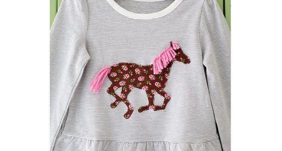 Apliques caballo con una melena y la cola del hilo: Tutorial