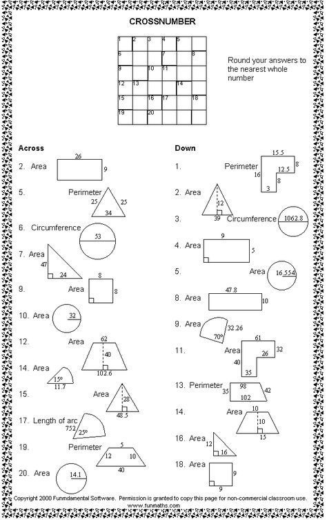 Kostenloses High School Mathe Arbeitsblatt Von Funmaths Com Geometry High School High School Mathematics High School Math Math worksheets 9th grade