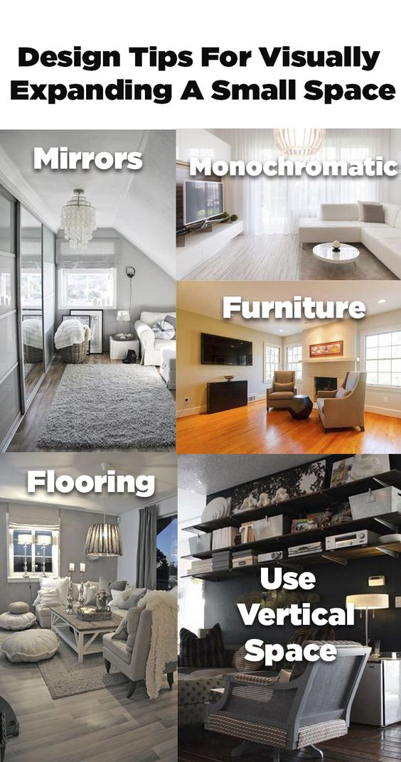 Go from cramped to spacious! Using these visual tricks!