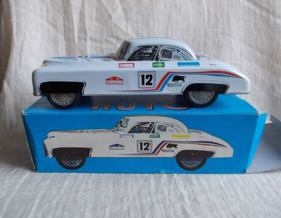 Vintage Hungarian LENDULET AUTO , SPORTS CAR friction tin toy,in original box | eBay