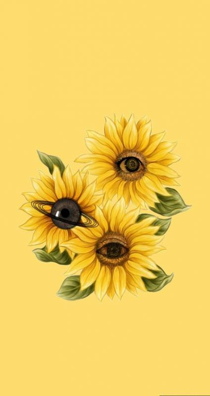 35 New Ideas For Flowers Yellow Wallpaper Iphone Sunflower Wallpaper Flower Wallpaper Eyes Wallpaper Aesthetic yellow flower wallpaper iphone