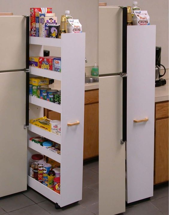 Thin Pull Out Pantry Laundry Cabinet Kitchen