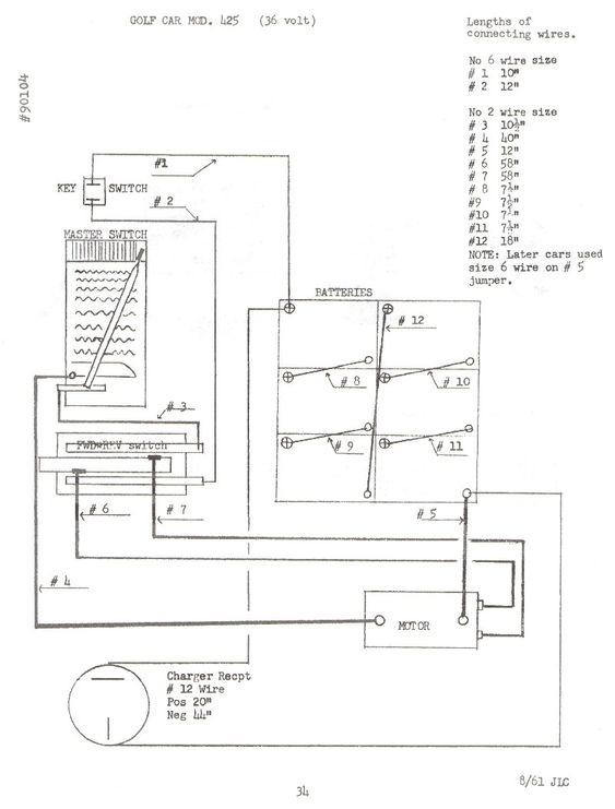 36 volt ezgo wiring diagram for batteries  yahoo image