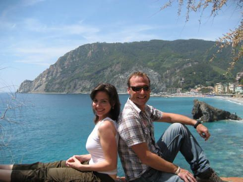 Former CNN Photographer Adam Harding and Andrea Mineo happily shooting a story in Cinque Terre, the Liguria region of Italy.