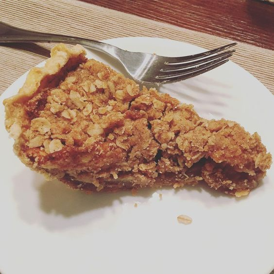 What's more delightful than apple pie for dinner you ask? Answer: The girl(s) who made it! Thank you for swinging by bringing me pie and brightening my day @spegs! I treasure you.  #delightful #applepie #dinner #mondayfunday #pie #bff #gratitude #sharingiscaring #youtoosam #bffsbake @seethediffrence