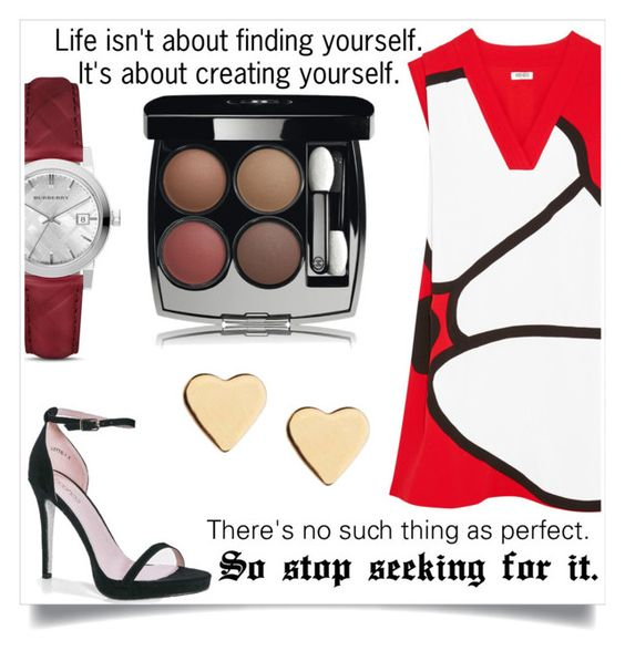 """""""Perfection Isn't a Thing"""" by magriatrix ❤ liked on Polyvore featuring Kenzo, Boohoo, Burberry, Chanel and Lipsy"""