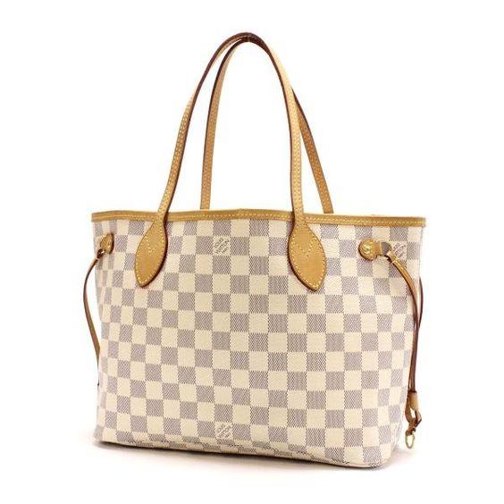 Louis Vuitton Neverfull PM Damier Azur Shoulder bags White Canvas N51110