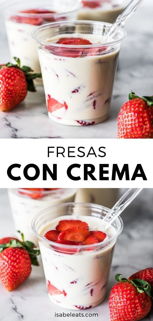 Fresas Con Crema Mexican Strawberries And Cream Isabel Eats Recipe In 2020 Mexican Dessert Recipes Easy Mexican Dessert Mexican Food Recipes Easy