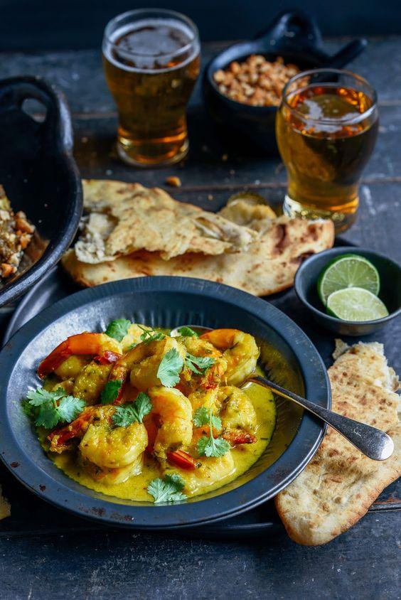 Von der Küche: Schnell Garnelen-Curry