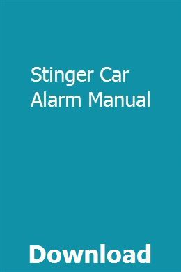 Stinger Car Alarm Manual Math Study Guide Chemistry Study Guide