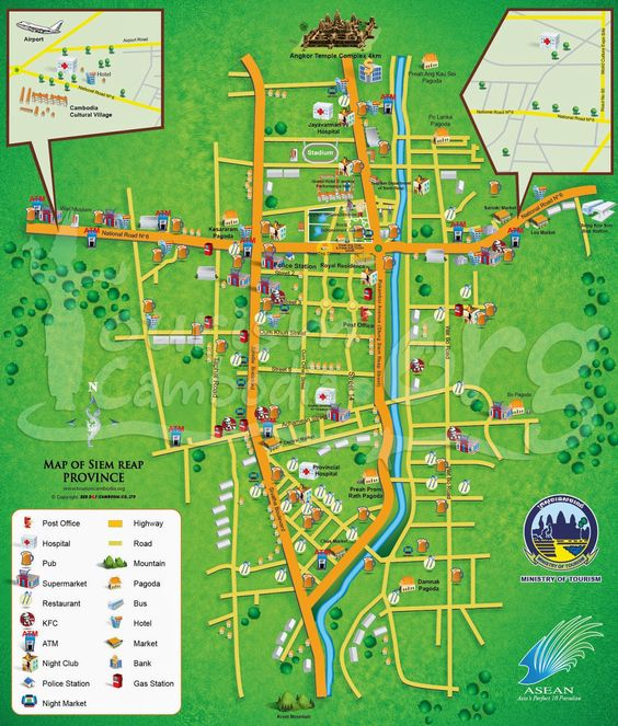 Travel Maps ~ Tours in cambodia