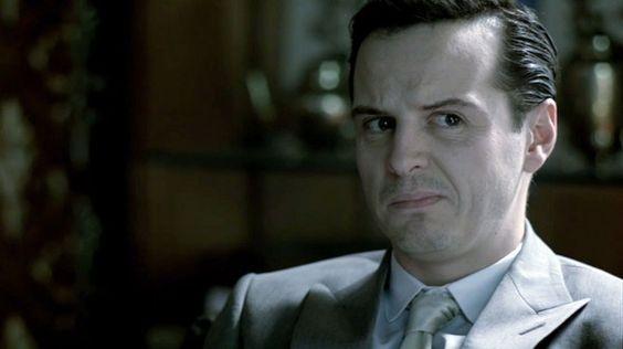 Andrew Scott as James Moriarty in BBC Sherlock