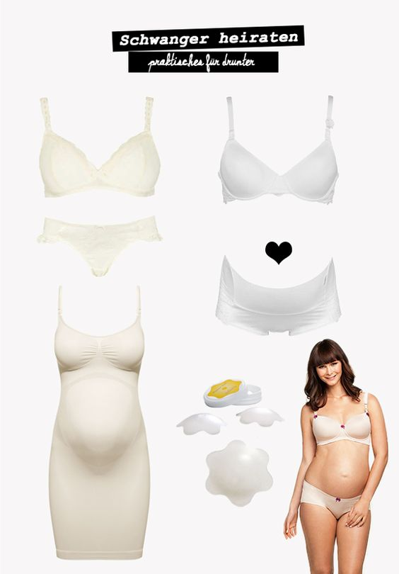 #Unterwäsche: Was trägt man als #Schwangere zur #Hochzeit eigentlich unter?