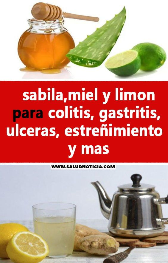 Sabila Miel Y Limon Para Colitis Gastritis Ulceras Estreñimiento Y Mas Remedios Caseros Naturales Recetas Health
