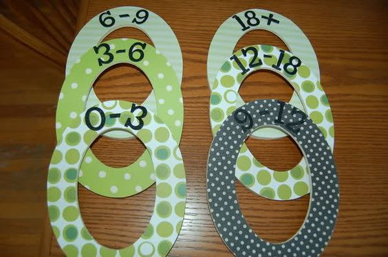 Can't wait to be crafty and make some closet dividers similar to these for the nursery!