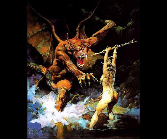 Frank Frazetta-Beauty and the Beast