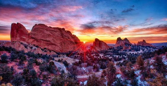 December 31, 2015 · Colorado Springs, CO, United States ·  Wow--spectacular Garden of the Gods Sunrise, from Lars Leber.