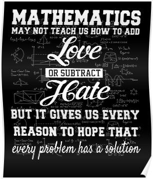 Cool Math T Shirt-Mathematics May Not Teach Us How To Add Love Or Subtract Hate Gift for Wome Poster