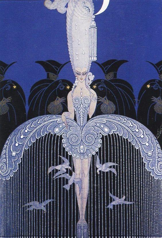 'Her Secret Admirers' by Erté (Russian-born artist Romain de Tirtoff - the world-famous Erté).: