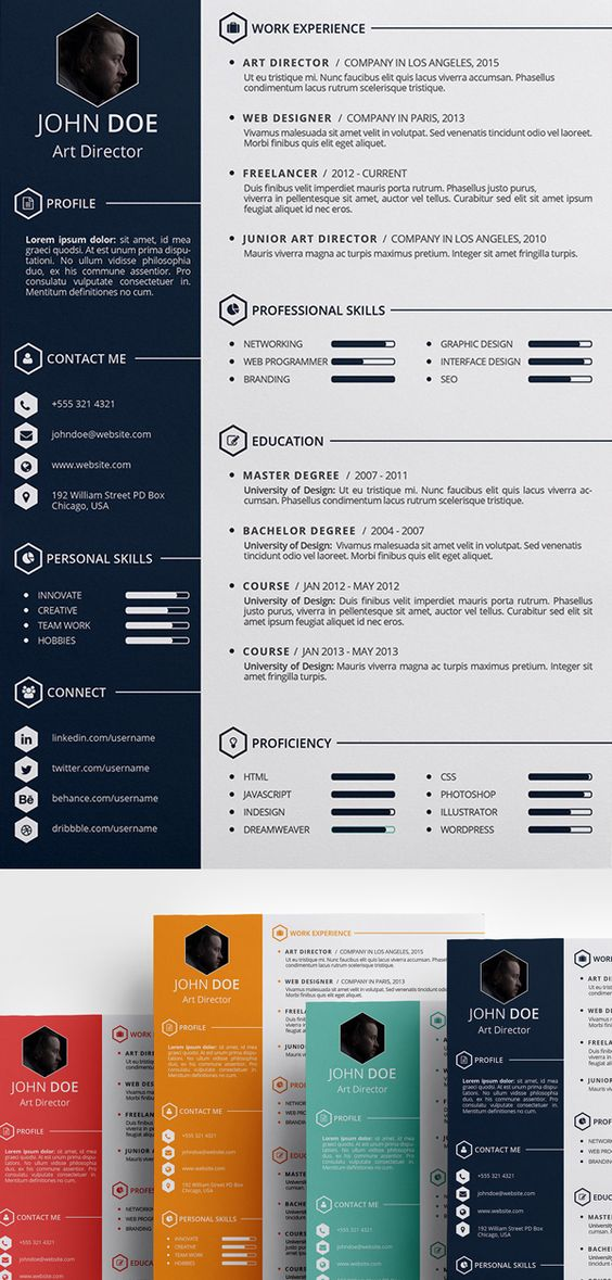 Free Creative Resume Template (PSD, ID) Free stuff Pinterest - resume template monster
