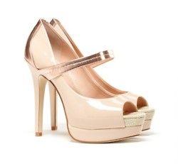 Nude Gold Pumps Shoes