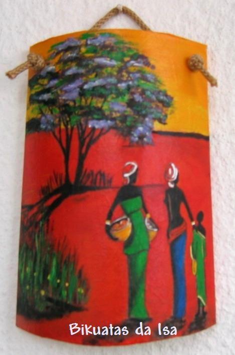 Mulheres africanas tejas decoradas pinterest for Pintura para tejas