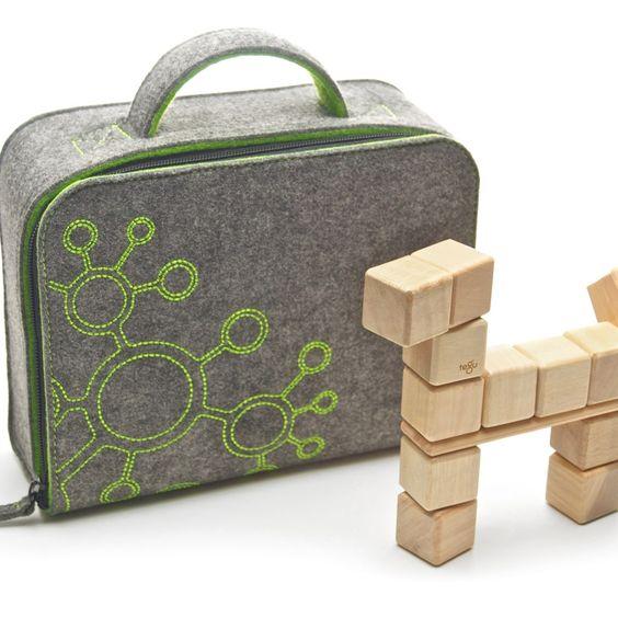Fun Kids Travel Tote with Blocks.