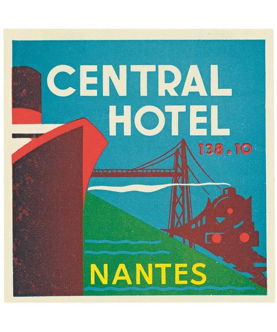 'Central Hotel, Nantes, France', 1930's  :  Louis Vuitton Archives
