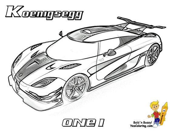 Image Gallery nice cars coloring pages