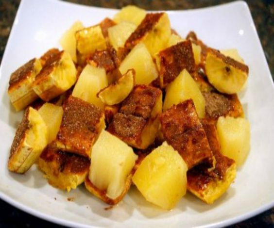 Growing up in Trinidad and Tobago there were always a lot of plantains, we ate them mostly boiled and fried, I remember spending time at my Aunt's house