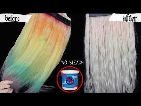 Removing Hair Color No Bleach Baking Soda Youtube With