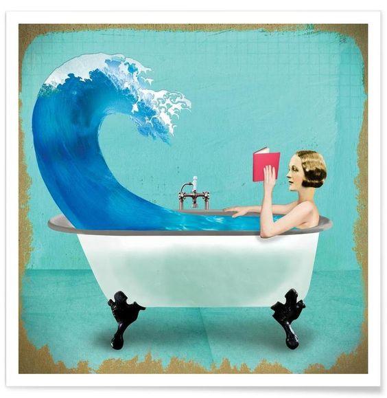 Quiet Night At Home als Premium Poster von Ellen Weinstein | JUNIQE