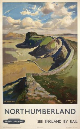 Hadrian's Wall, by Jack Merriott. 'Northumb by Merriott, Jack at Science and Society Picture Library