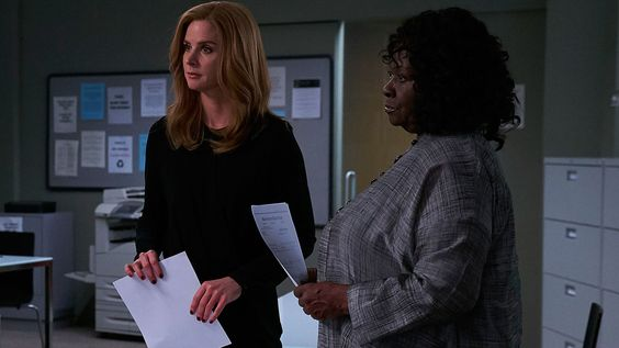 """Donna (Sarah Rafferty) and Gretchen (Aloma Wright) in season 6, episode 7 of Suits, """"Shake The Trees."""""""