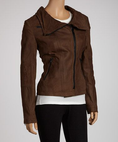 Buffalo David Bitton Dark Brown Leather Jacket | Dark Leather