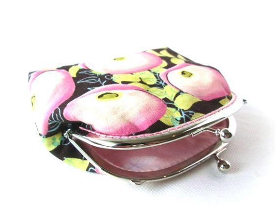 Geldbeugel roze papavers bloemen makeup tasje | Made By Nixie Design
