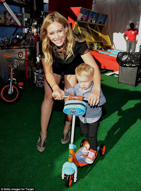Mom's the word! Hilary Duff and Ashlee Simpson are show-stoppers in thigh skimming black at Disney's Planes premiere