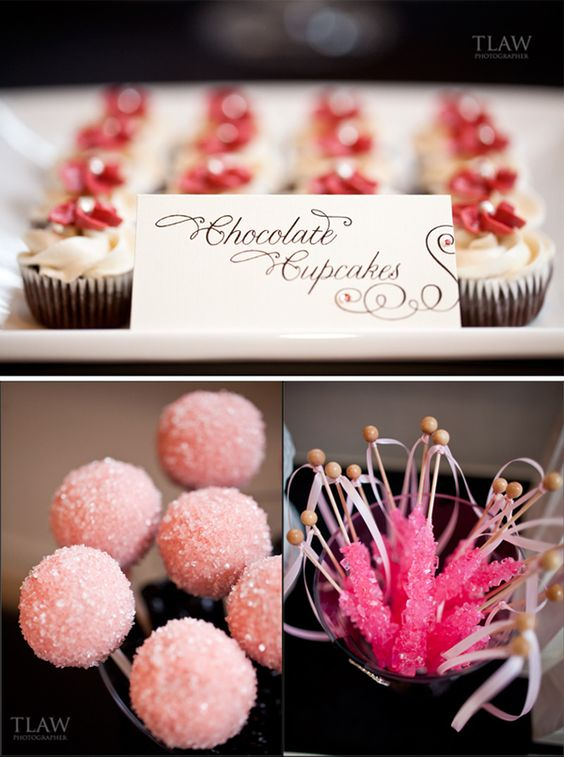 Love the idea of candy tables for weddings and parties. So pretty