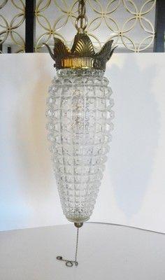 Hollywood Regency swag lamp