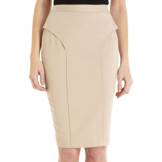 givenchy godet back skirt