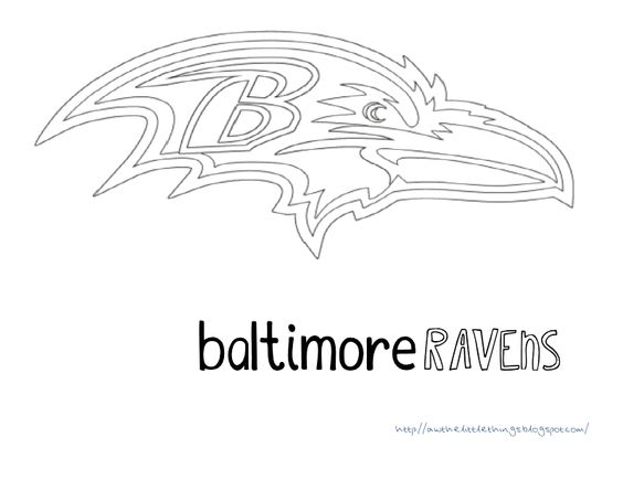 Super bowl xlvii baltimore and free printables on pinterest for Baltimore ravens coloring pages print