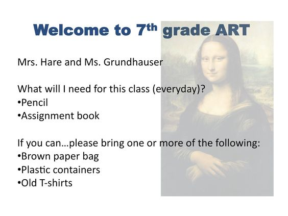 Art at Becker Middle School: First day info - great classroom organization tips I may steal....