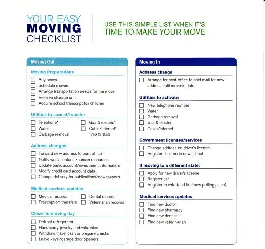 Simple Moving Checklist Template Excel Moving Checklist Moving