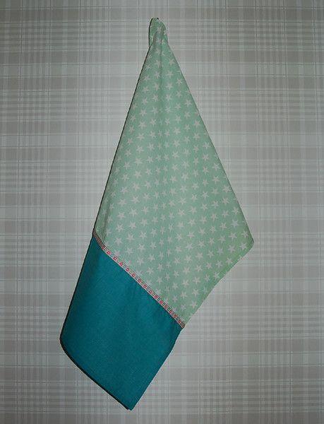 sweet mint stars - kitchen towel - see more on Dawanda.com - Nostalgie & Nähkästchen